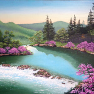 Landscape Painting by Sana Afzal, SA Art & Designs