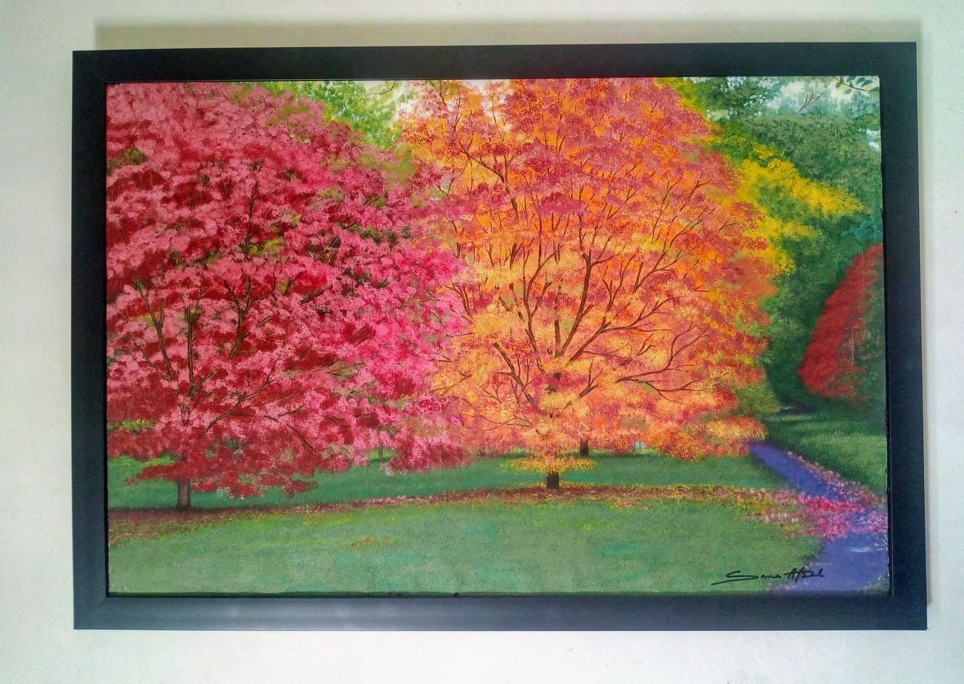 Colors of Life Landscape Painting by Sana Afzal