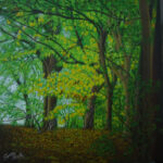 Deep Forest Painting by Sana Afzal SA Art & Designs