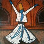 Whirling Dervish latest artwork by Aamir Khatri's paintings for sale