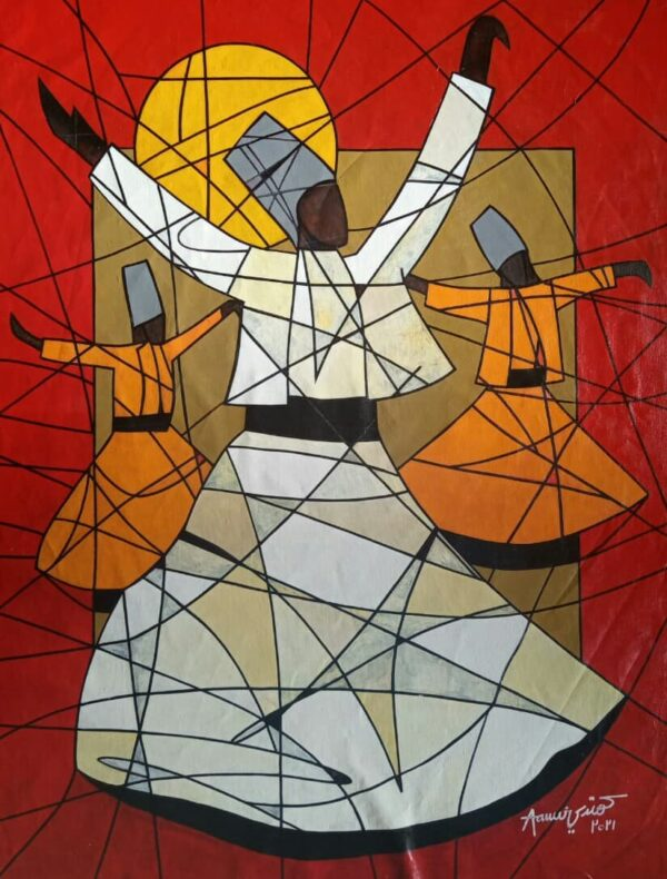 Whirling Dervish Pakistani artist's paintings online