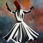 Whirling Dervish buy Pakistani Artist's Painting