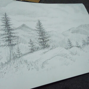Mountains Sketch by Sana Afzal 2