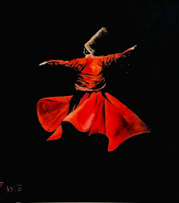 Whirling Dervish oil painting by SA Art & Designs